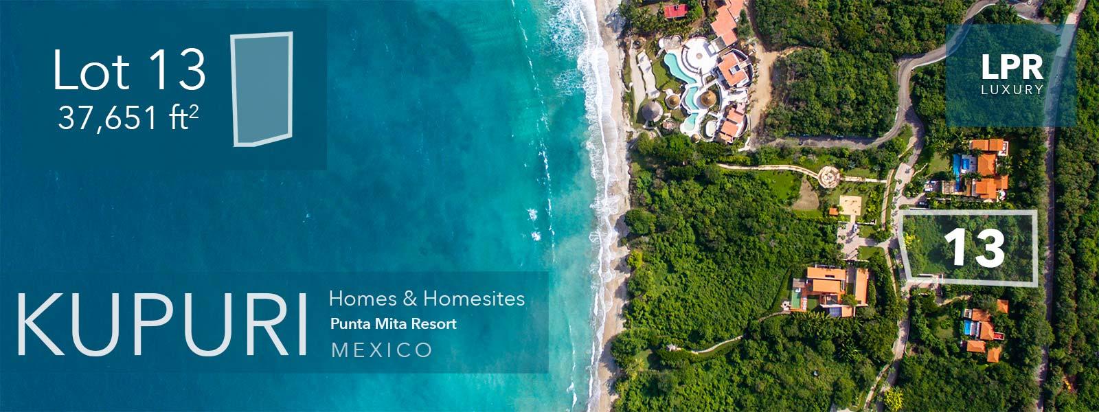 Kupuri Lot 13 - Punta Mita Real Estate : Luxury Resort Homes and Homesites